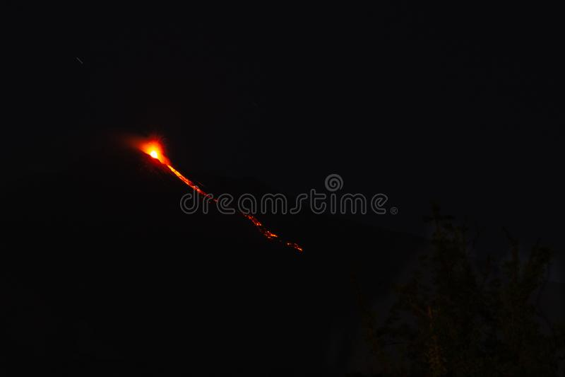 爆发Etna火山 免版税库存照片