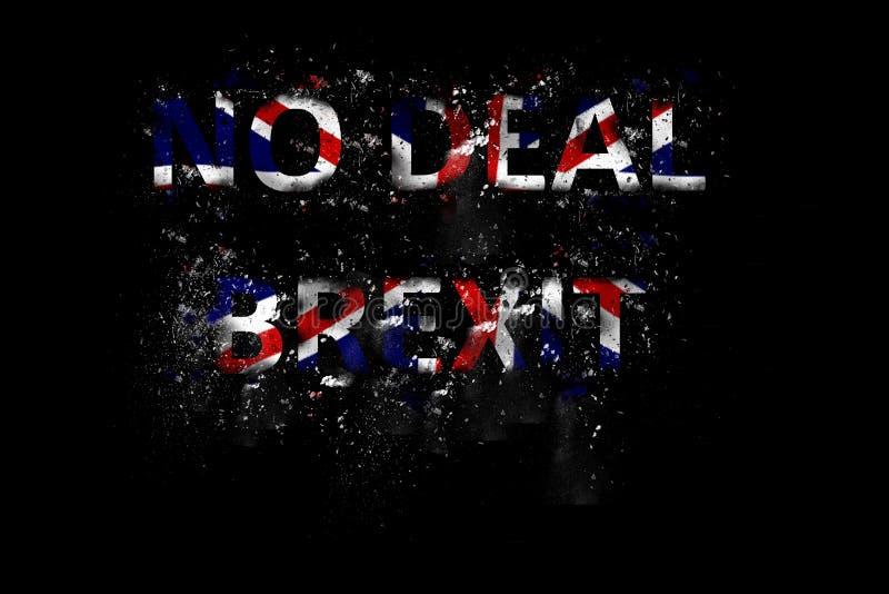 爆炸在英国国旗颜色的成交Brexit文本 免版税库存图片
