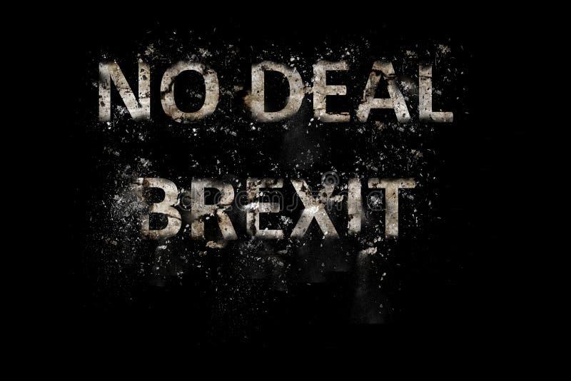 爆炸成交Brexit文本 库存图片