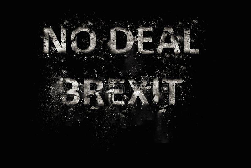 爆炸成交Brexit文本 图库摄影