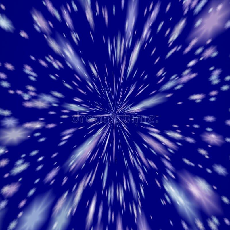 爆炸星引起的纹理或背景 皇族释放例证