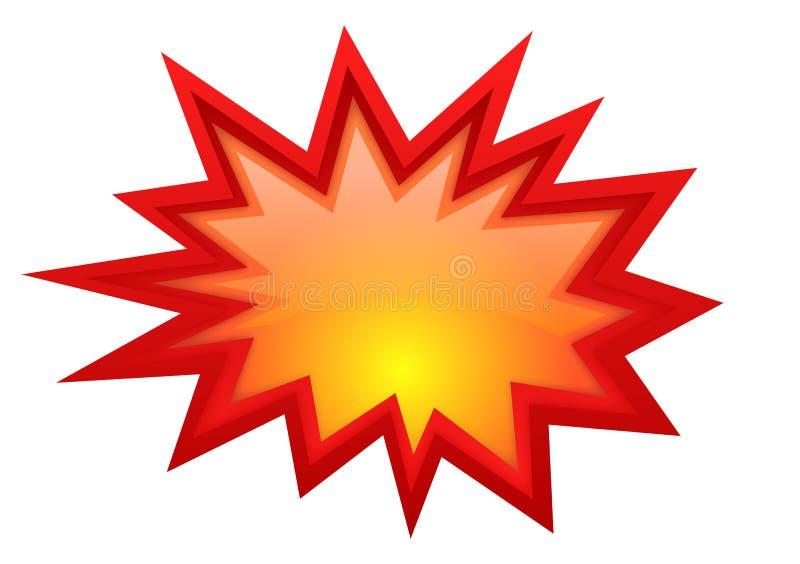 爆炸星形景气 皇族释放例证