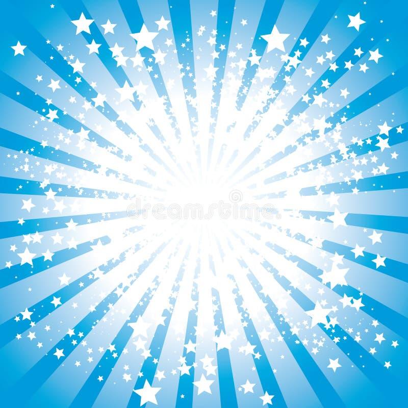爆炸星形 向量例证