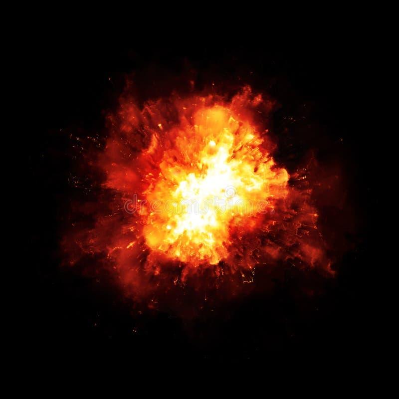 爆炸火 皇族释放例证