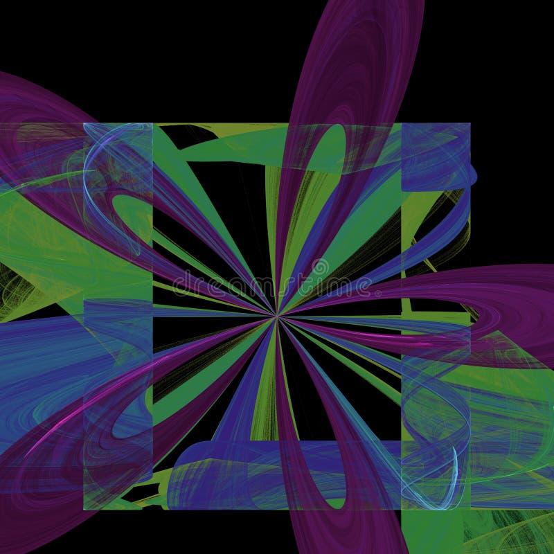 爆炸的花画象|分数维艺术 皇族释放例证