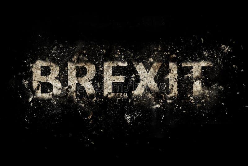 爆炸的Brexit文本 库存照片