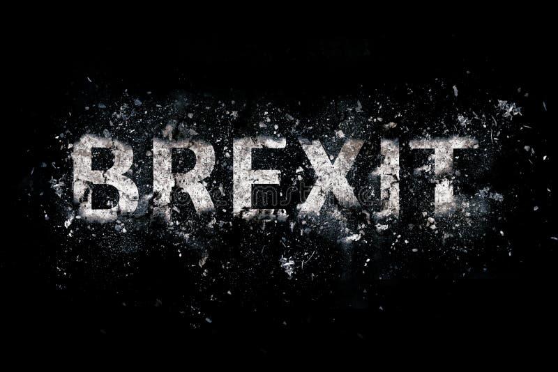 爆炸的Brexit文本 库存图片
