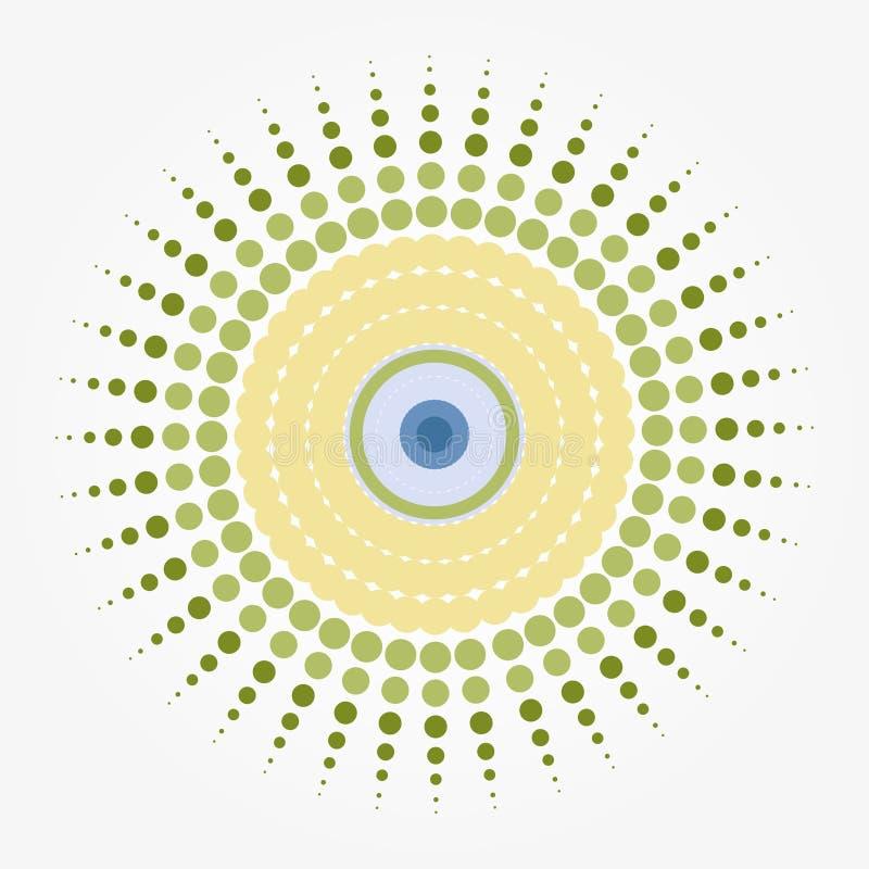 爆炸眼睛 向量例证
