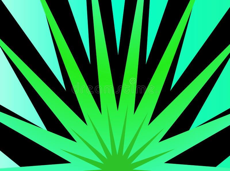 爆炸绿色星形 库存例证