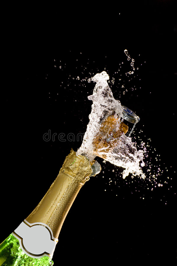 爆炸香槟 图库摄影