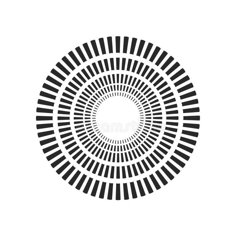 爆炸,射线,光芒几何设计圈子 在空白背景查出的向量例证 皇族释放例证