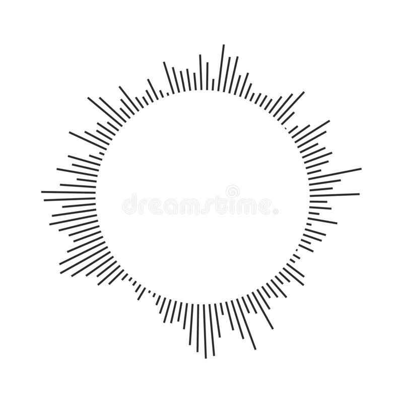 爆炸,射线,光芒几何设计圈子 在空白背景查出的向量例证 向量例证