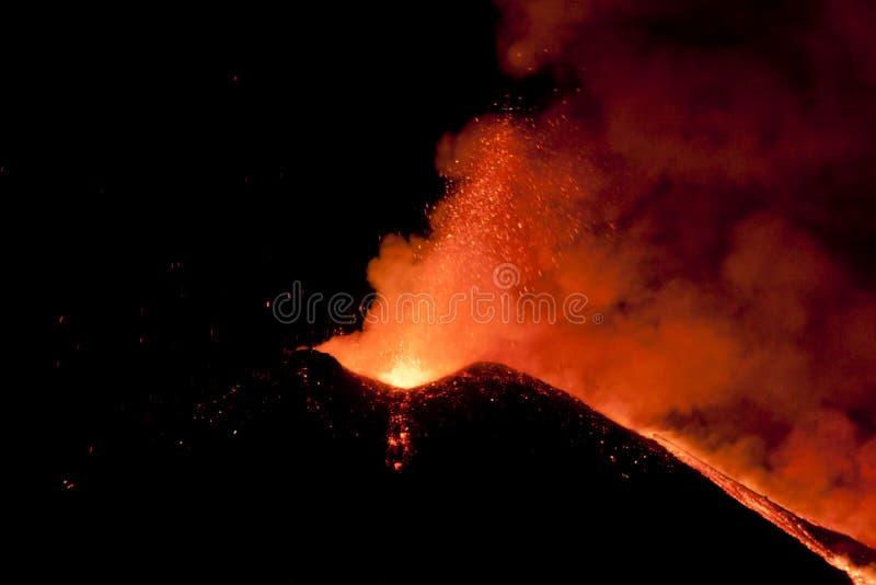 爆炸Etna 2 免版税库存图片