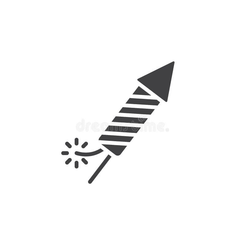 爆竹,烟花火箭队象传染媒介,填装了平的标志,坚实pi 皇族释放例证