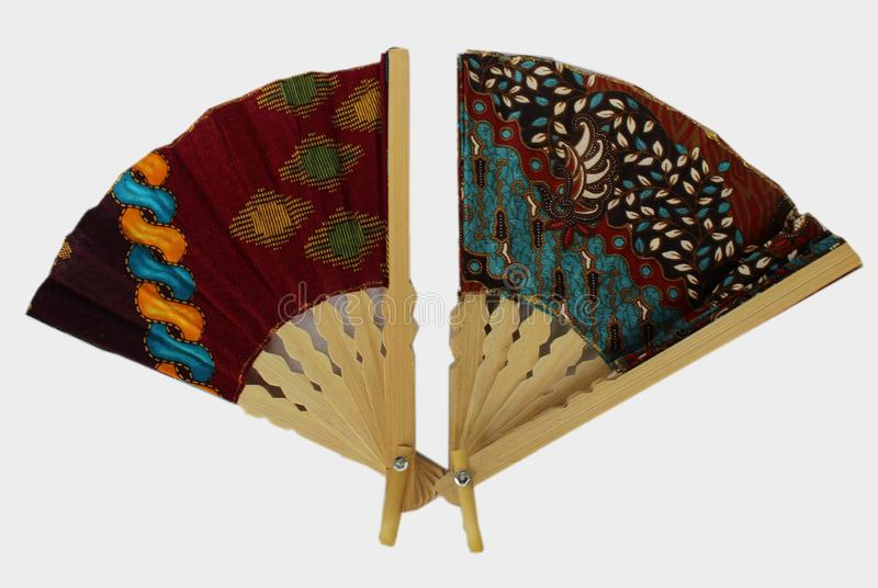 爪哇布料的一个木手爱好者叫蜡染布 免版税库存图片