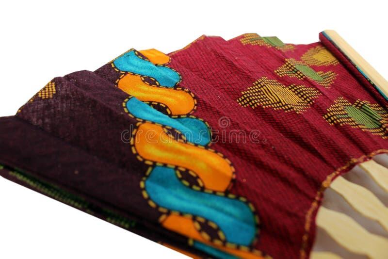 爪哇布料的一个木手爱好者叫蜡染布 库存图片