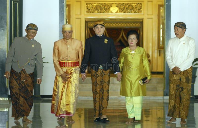 爪哇皇家婚礼 免版税库存图片