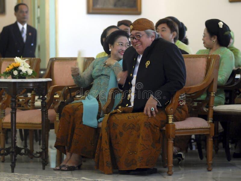 爪哇皇家婚礼 库存照片