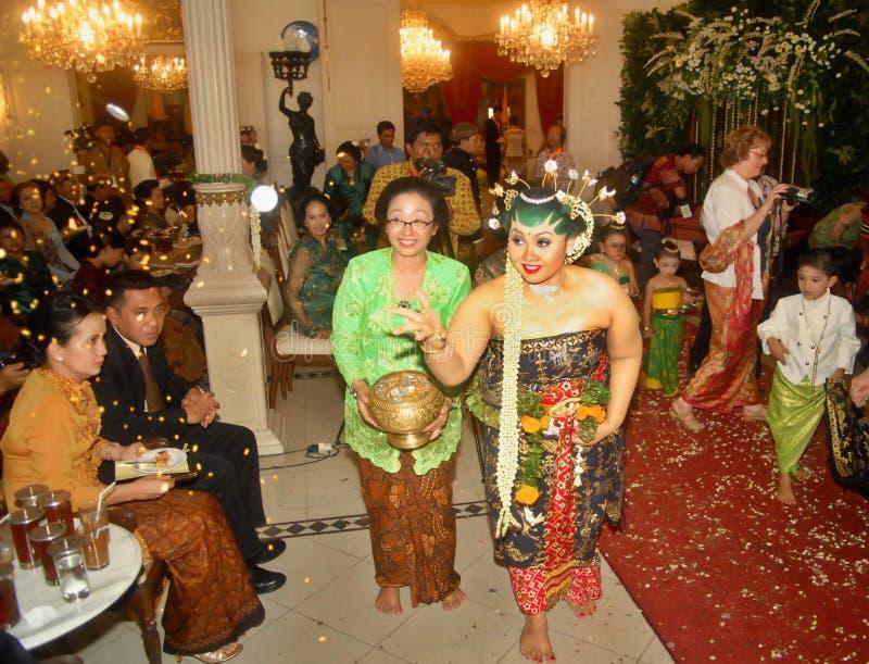 爪哇皇家婚礼 库存图片