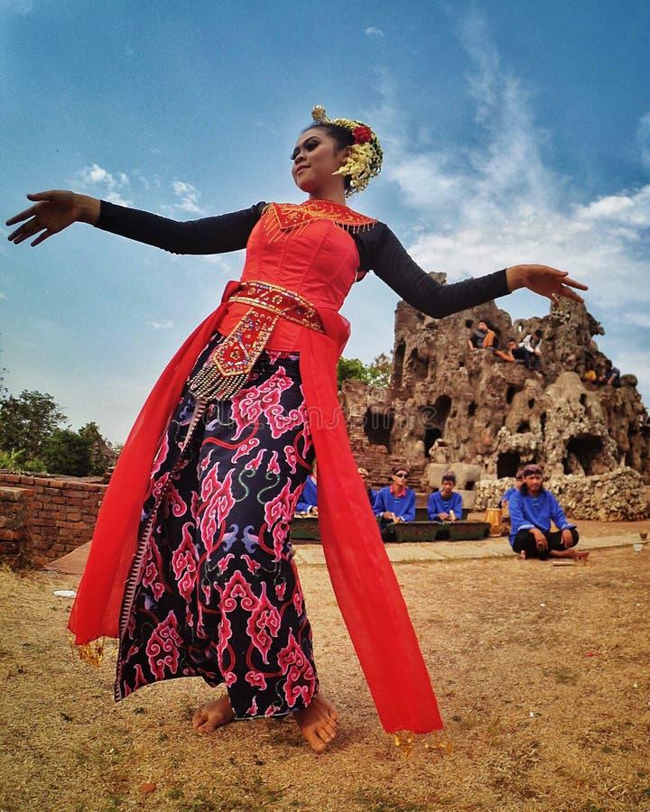 爪哇舞蹈家 库存图片