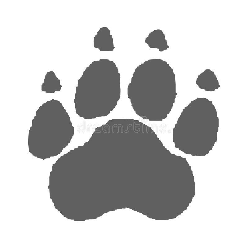 爪子印刷品灰色标志 皇族释放例证
