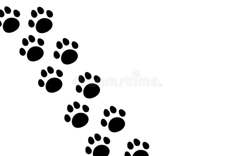爪子的无缝的样式,动物脚印 例证,传染媒介 库存例证