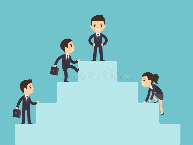 爬公司梯子的商人 向量例证