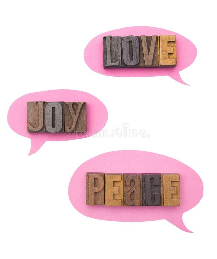 爱、喜悦和和平 免版税图库摄影