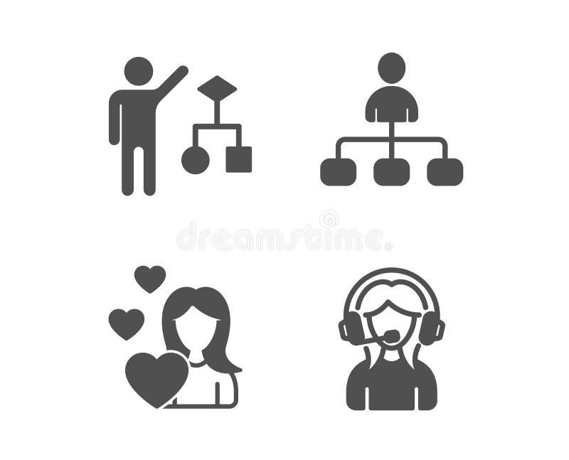爱、管理和算法象 r 爱的妇女,代理,开发商工作 : ?? 向量例证