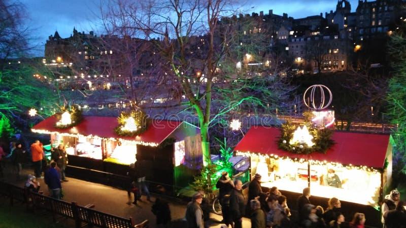 爱丁堡圣诞节市场 免版税图库摄影