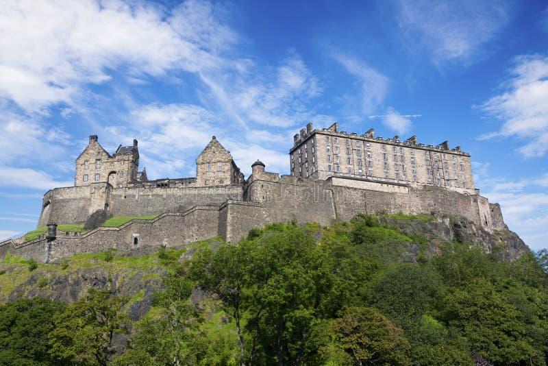 爱丁堡城堡。 免版税库存照片
