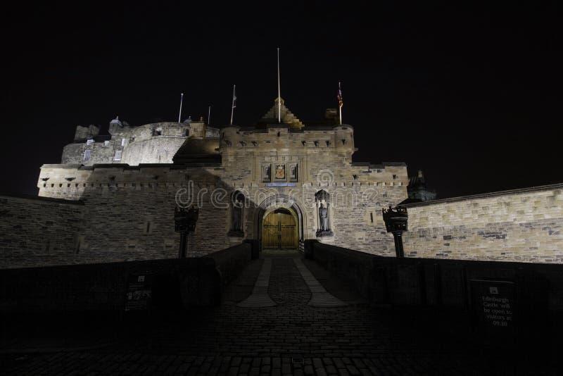 爱丁堡城堡入口,爱丁堡,苏格兰 免版税图库摄影