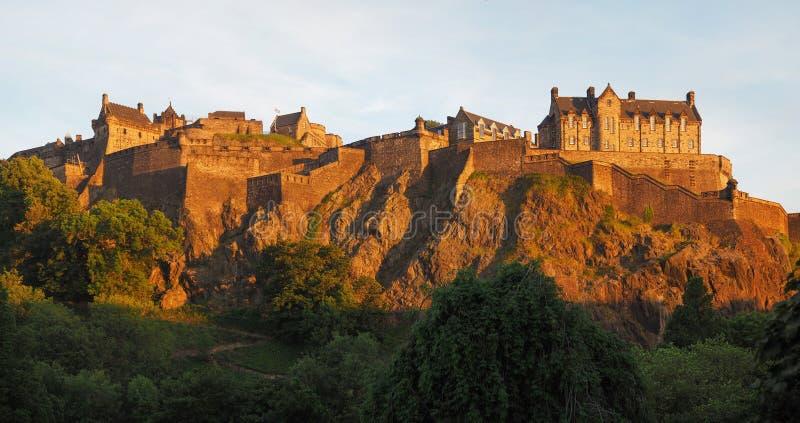 爱丁堡城堡在爱丁堡,高res 免版税库存图片