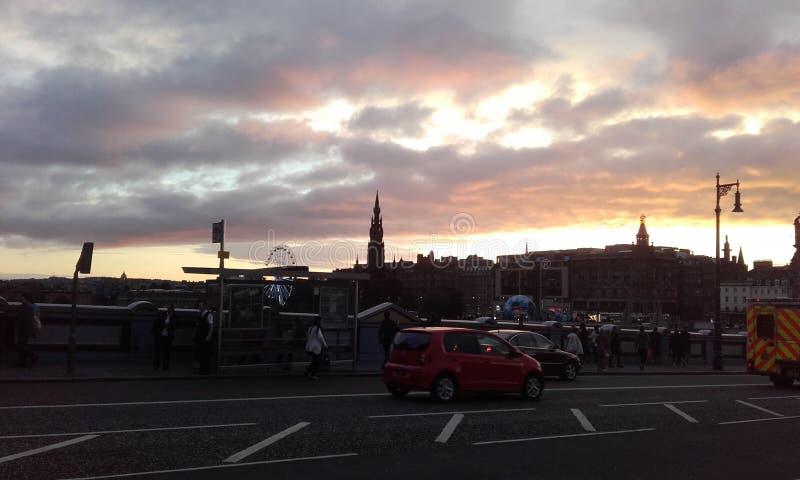 爱丁堡天空 免版税库存照片