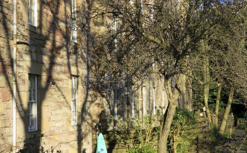 爱丁堡市房子和后花园-爱丁堡,苏格兰 库存图片