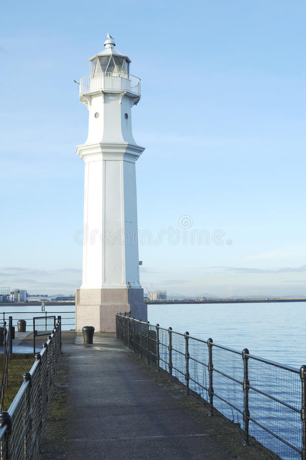 爱丁堡港口灯塔纽黑文 库存照片