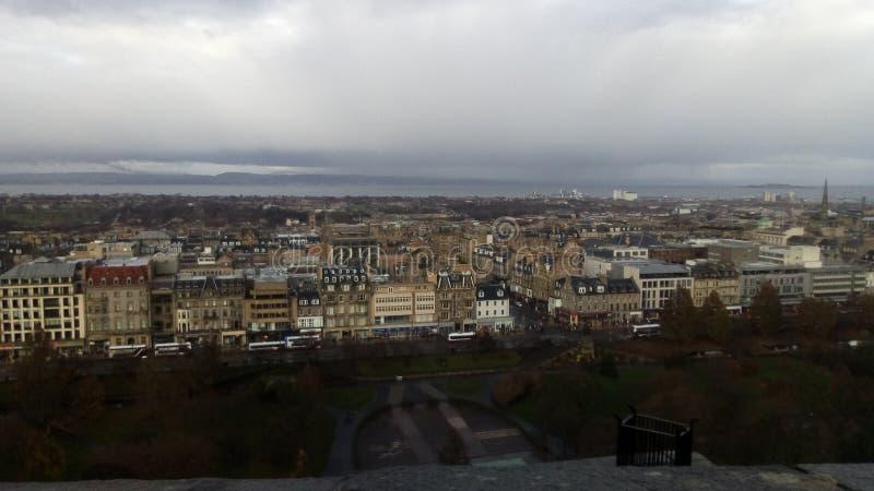 爱丁堡看法从城堡的 免版税库存照片
