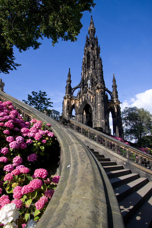 爱丁堡纪念碑斯科特 免版税库存照片