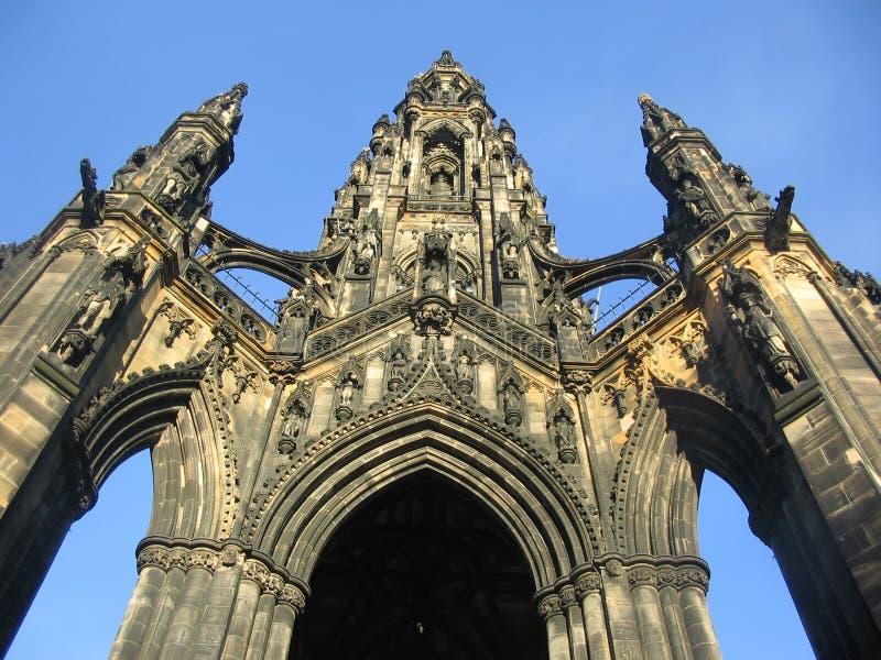 爱丁堡纪念碑斯科特 库存照片