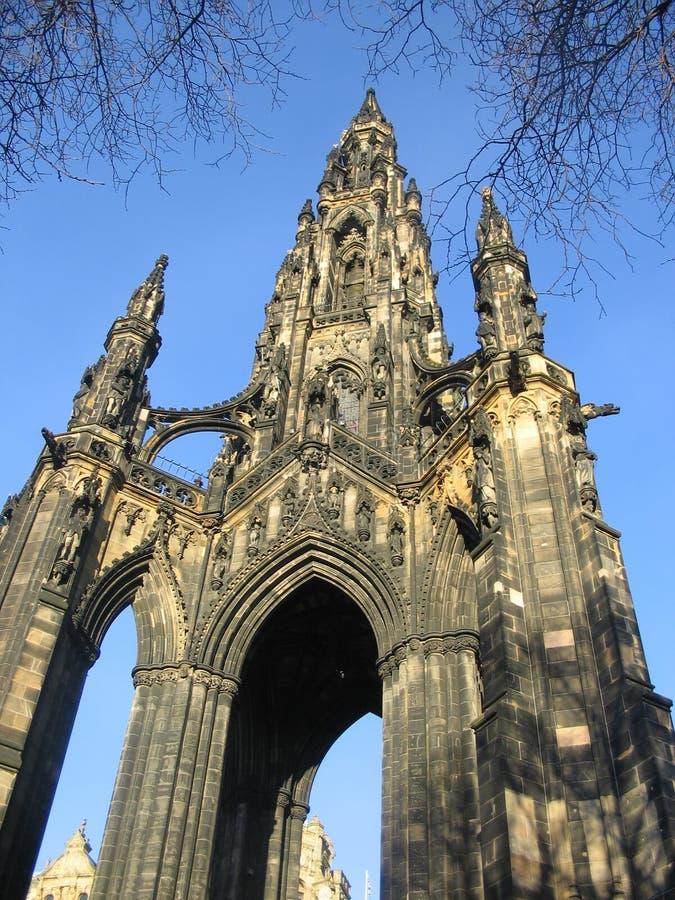 爱丁堡纪念碑斯科特 图库摄影