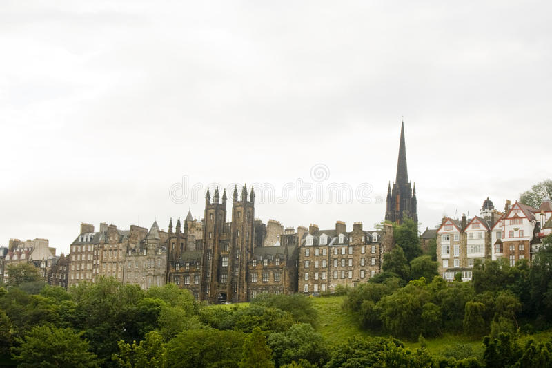 爱丁堡老苏格兰城镇 免版税库存照片