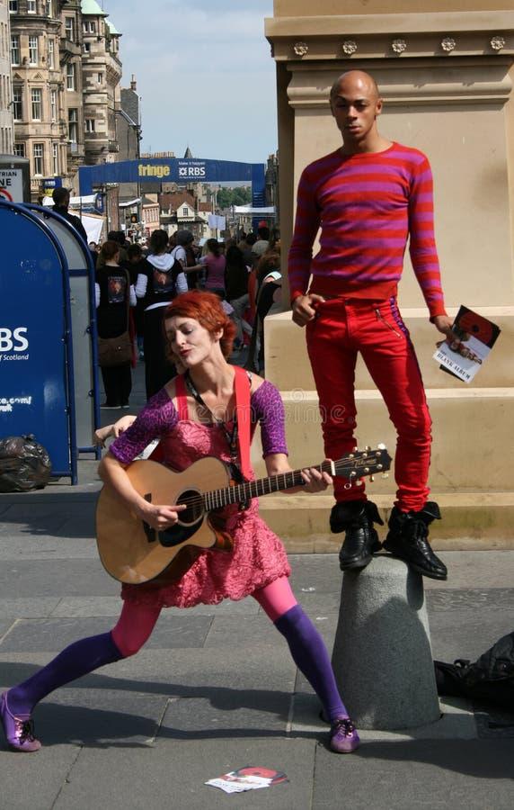 爱丁堡节日执行者 库存照片