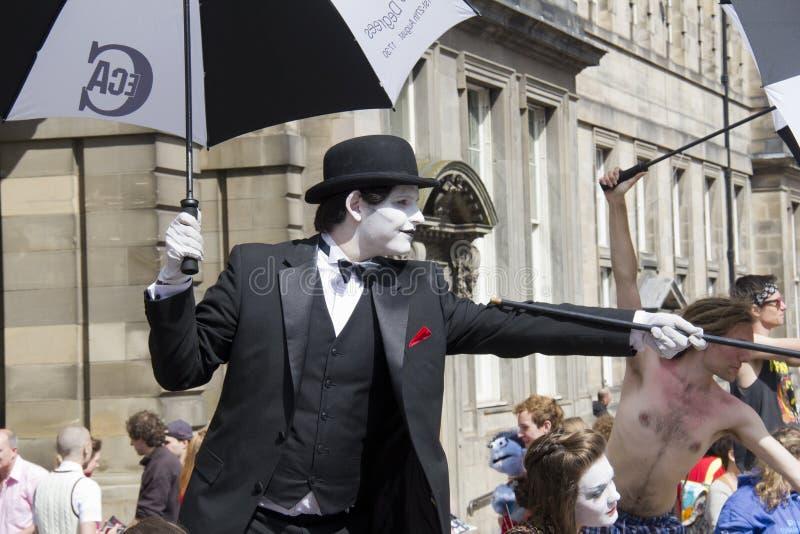 爱丁堡节日的执行者 免版税库存图片