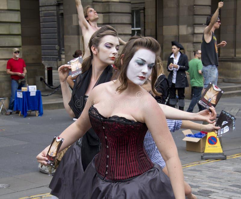 爱丁堡节日的执行者 库存图片