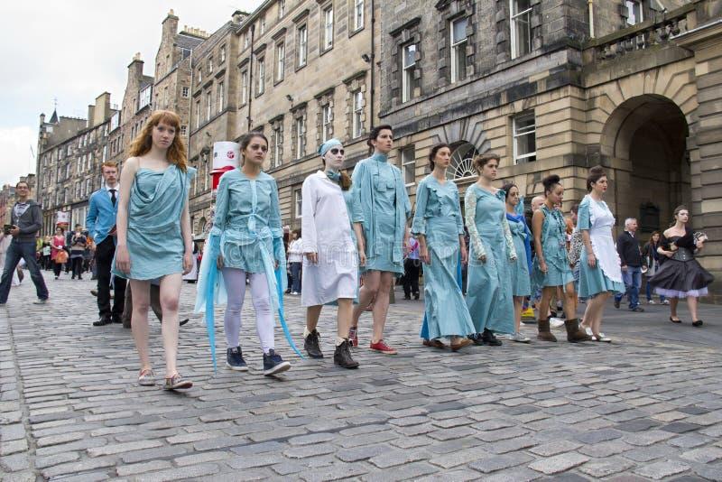 爱丁堡节日边缘的剧院 免版税库存图片