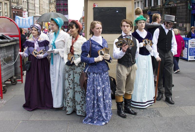 爱丁堡节日边缘的维多利亚女王时代 免版税库存图片