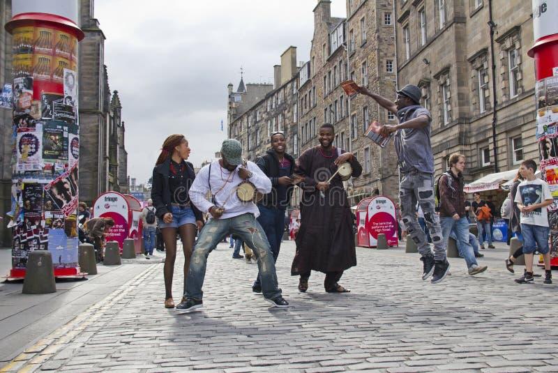 爱丁堡节日边缘 免版税库存图片