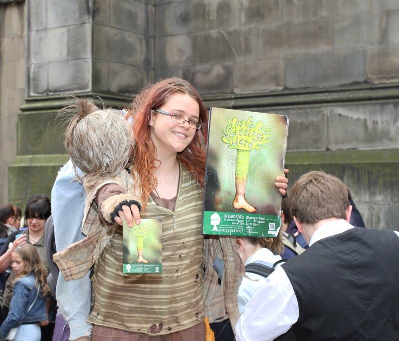 爱丁堡节日附加费用执行者 库存图片