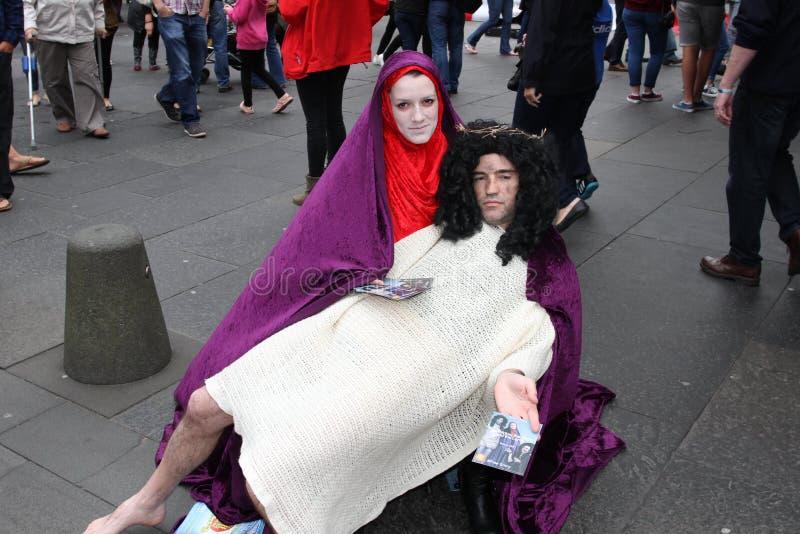 爱丁堡节日附加费用执行者 免版税库存图片