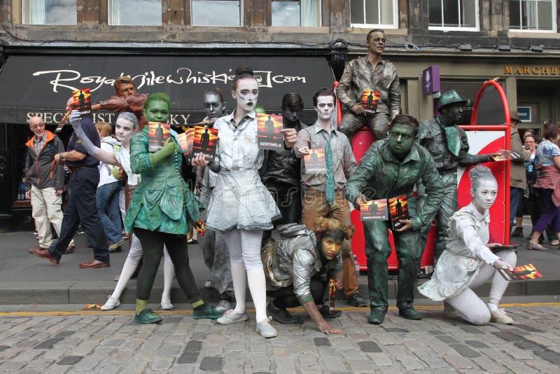 爱丁堡边缘节日2013年 库存图片